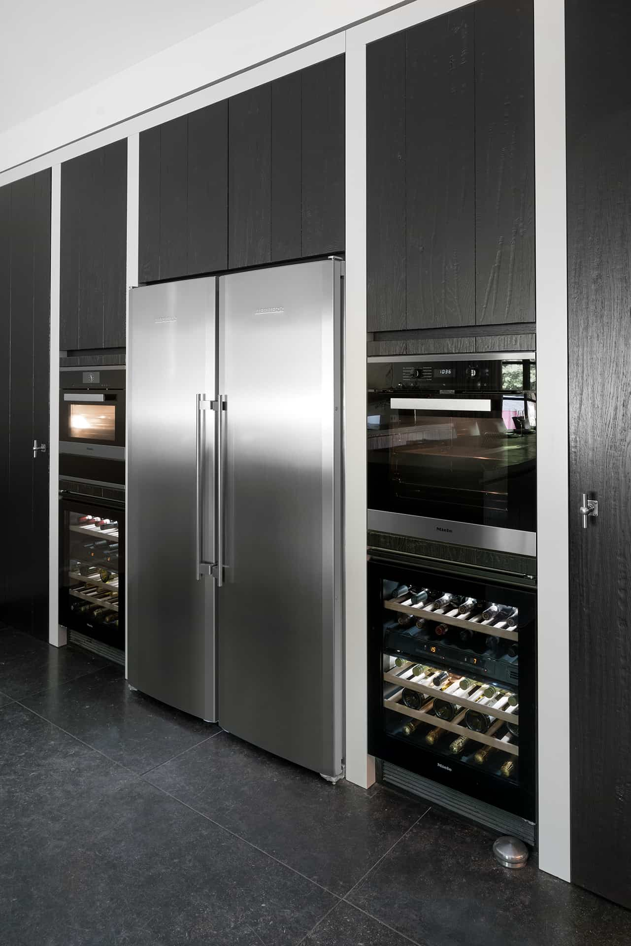Amerikaanse koelkast RVS