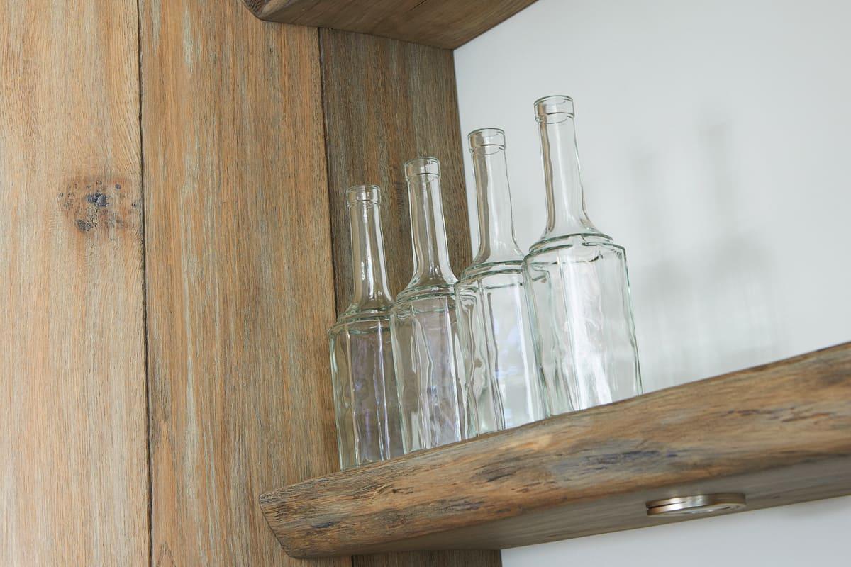 Houten planken keuken