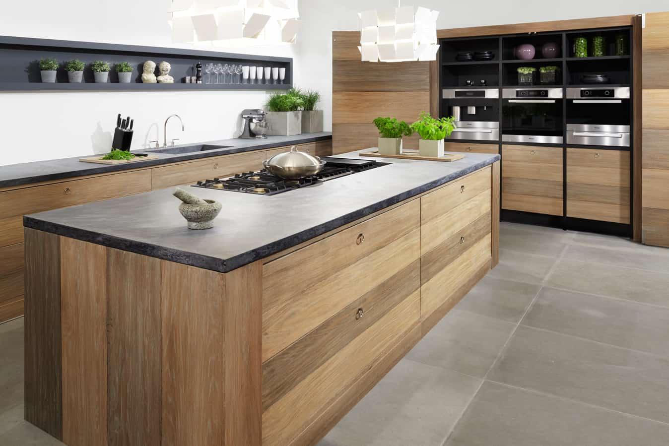 Keuken ruw hout