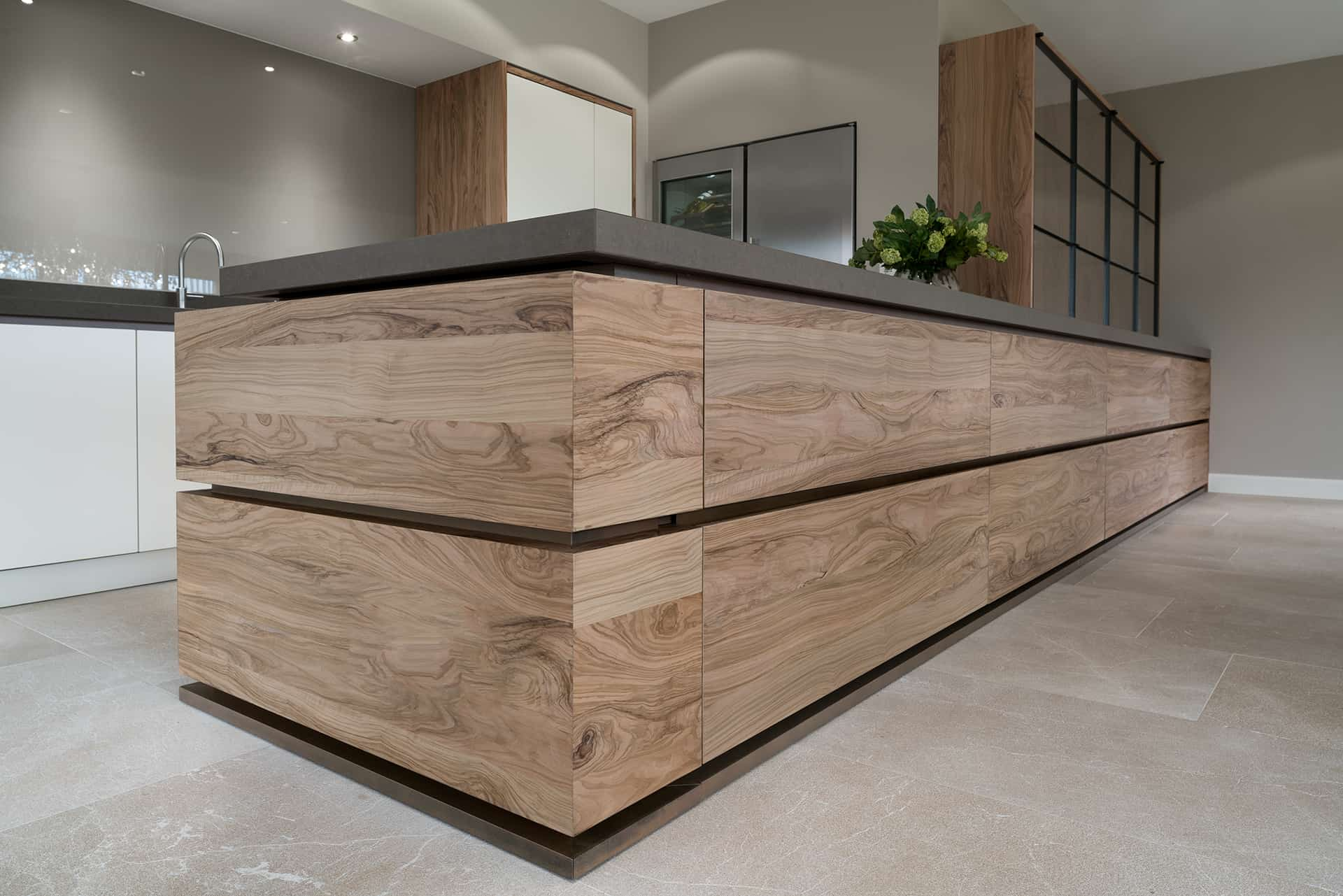 Moderne houten keuken