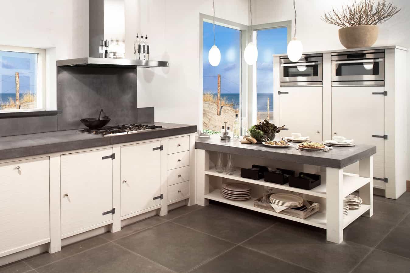 Sitte keuken betonnen blad