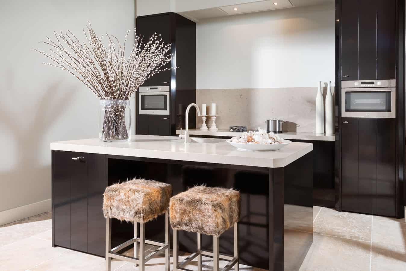 Zwarte Hoogglans Keuken